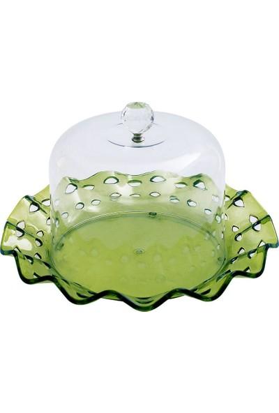 EW's Kitchenware Kitchenware Akrilik Delikli Fanus Yeşil