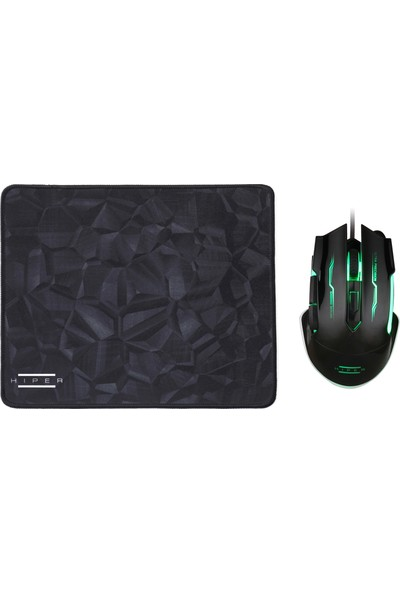 Hiper Black Widow X20 Oyuncu Mouse + Mousepad Set