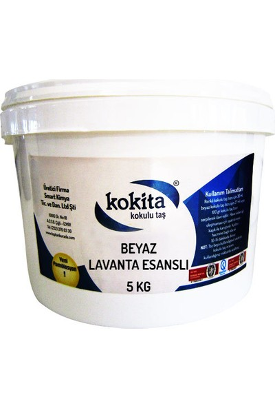 Kokita Beyaz Kokulu Taş Tozu Lavanta Esanslı 5 kg