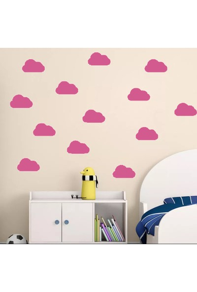 Decolight Bulut Sticker Pembe