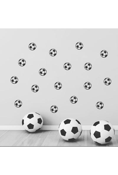 Decolight Siyah Beyaz Futbol Topu Sticker