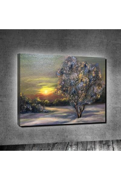 Tablo Art House Yağlıboya Günbatımı Tek Parça Kanvas Tablo 50x70