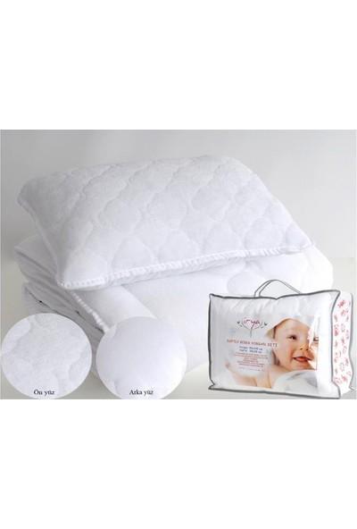 İrya Home SOFTLY Bebek Yorgan + Yastık Set Beyaz Yorgan+Yastık Seti