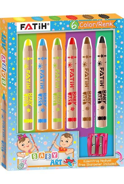 Fatih Baby Art Natural 6 Renk Boya Kalemi (Yeni Ürün)