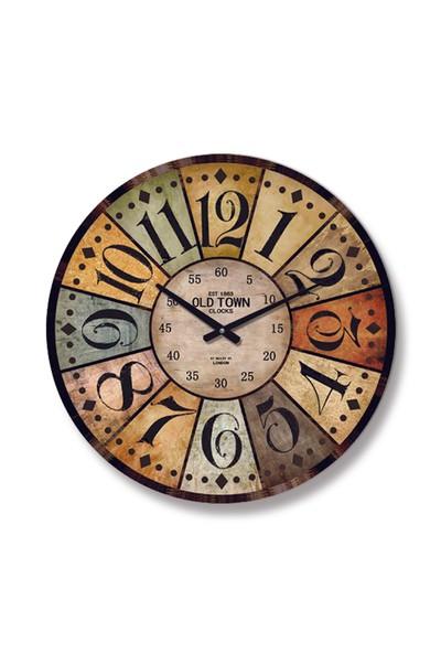 Time Gold Antik Duvar Saati-60cm
