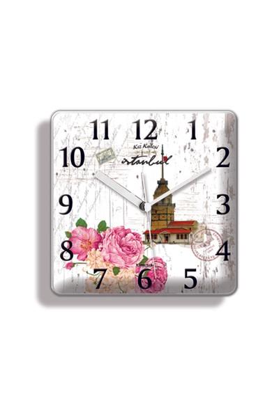 Time Gold Lotus Mıknatıslı Buzdolabı Saati-9,5*9cm