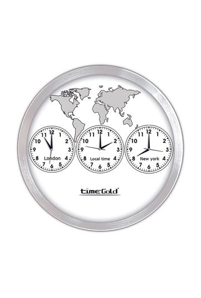 Time Gold 3'lü Dünya Saati-40cm