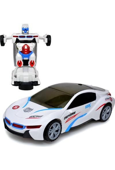 Power Hob Otomatik Direksiyon Bmw İ8 Oyuncak Robot Dönüşen Araba