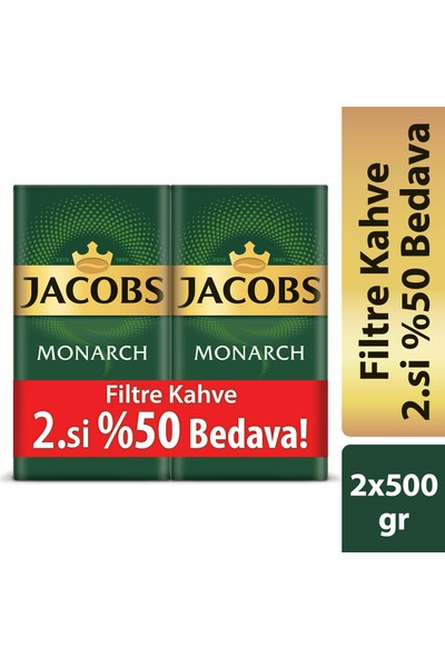 Jacobs Monarch Filtre Kahve 500 Gr - 2'li
