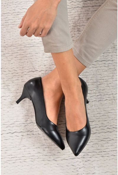 Shoes Time Kadın Topuklu Ayakkabı Siyah 17K 1951