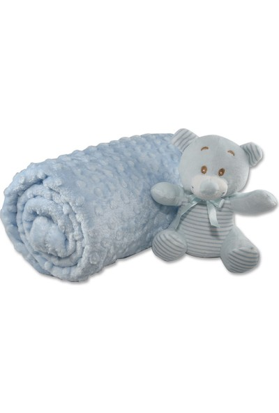 Aksu İpeksoft Tomurcuk Bebek Battaniye Mavi