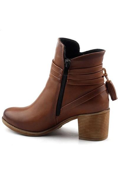 Ayakland 832 Günlük Bayan Bot Cilt Ayakkabı