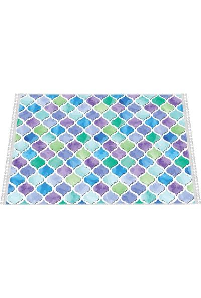Colorix Dekoratif Kilim Dokuma Tabanlı ve Kaymaz Tabanlı K145