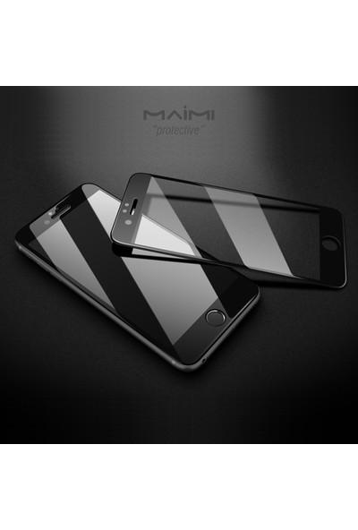 Maimi Apple iPhone 6 - 6S 3D Temperli Koruma Camı Beyaz