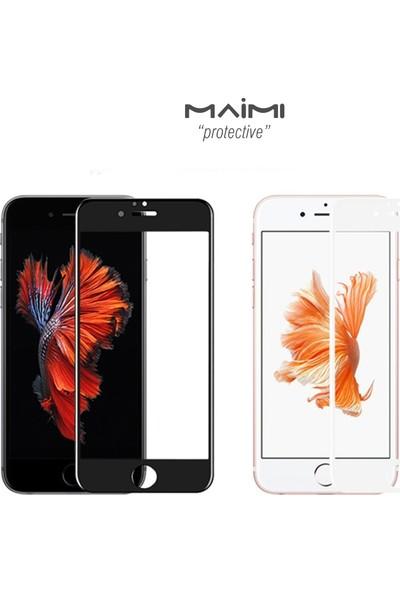 Maimi Apple iPhone 6 Plus - 6S Plus 3D Temperli Koruma Camı Beyaz