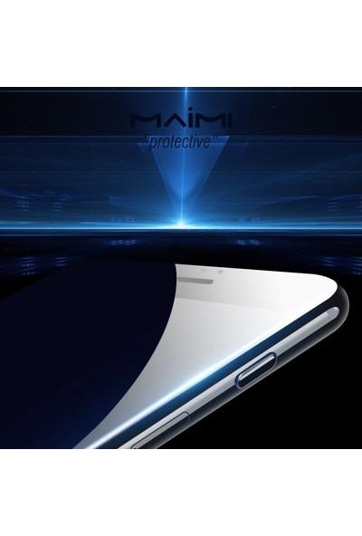 Maimi Apple iPhone 8 4D Temperli Koruma Camı Beyaz