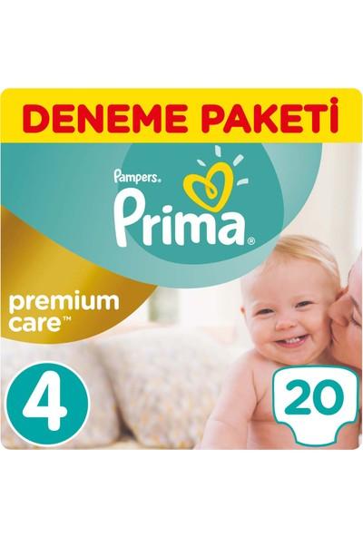 Prima Bebek Bezi Premium Care 4 Beden Maxi Tekli Paket 20 Adet