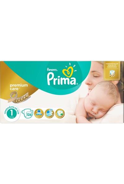 Prima Bebek Bezi Premium Care 1 Beden Yenidoğan Dev Ekonomi Paketi 126 Adet