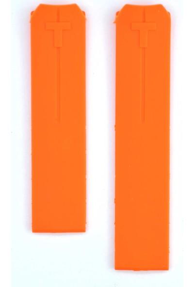 Ztd Strap Uyumlu Tisso. T-Touch T610014615 Z253/Z353 20Mm Turuncu Silikon Saat Kordonu Tst118