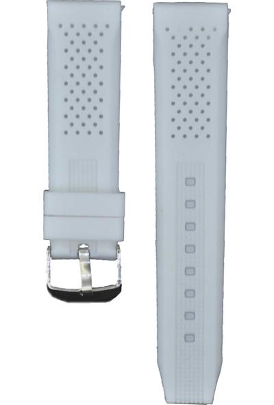 Ztd Strap 22Mm Beyaz Silikon Saat Kordonu Svg237