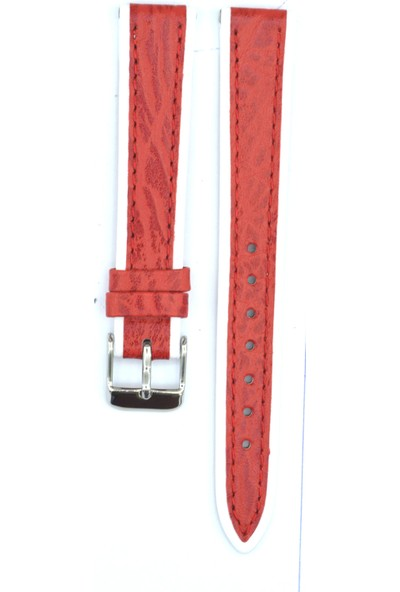 Ztd Strap 16Mm Kırmızı İtalyan Deri Saat Kordonu Svg127
