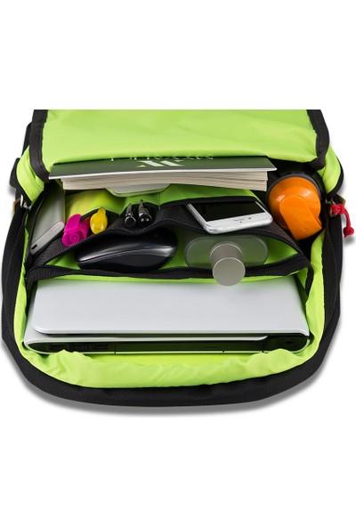 My Valice Smart Bag FREEDOM Usb Şarj Girişli Akıllı Sırt Çantası Lacivert-Kırmızı