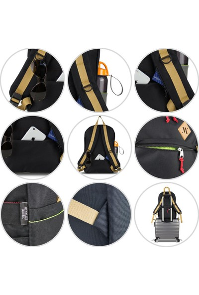My Valice Smart Bag FREEDOM Usb Şarj Girişli Akıllı Sırt Çantası Siyah-Gri