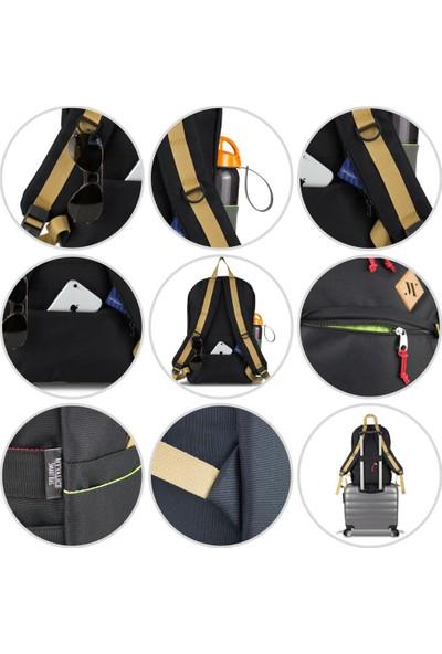 My Valice Smart Bag FREEDOM Usb Şarj Girişli Akıllı Sırt Çantası Siyah-Mavi