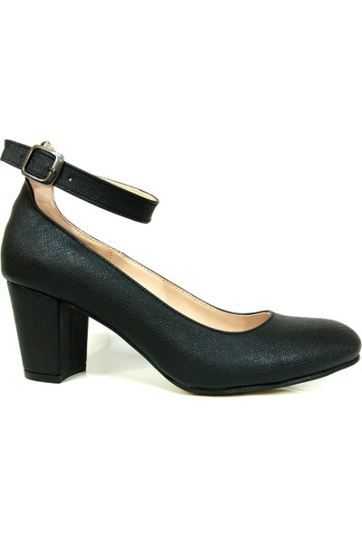 Zenay 1540 Siyah Topuklu Bayan Ayakkabı