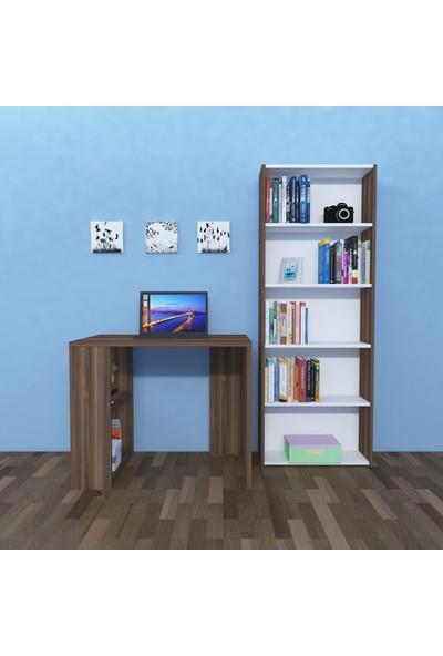 Nur Mobilya 2' Li Çalışma Odası Seti Ceviz