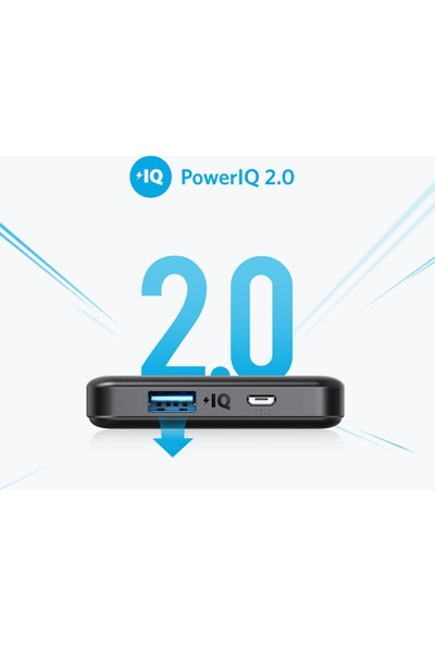 Anker PowerCore II 10000 Taşınabilir Şarj Cihazı PowerBank Siyah (İnce Kasa) - A1261