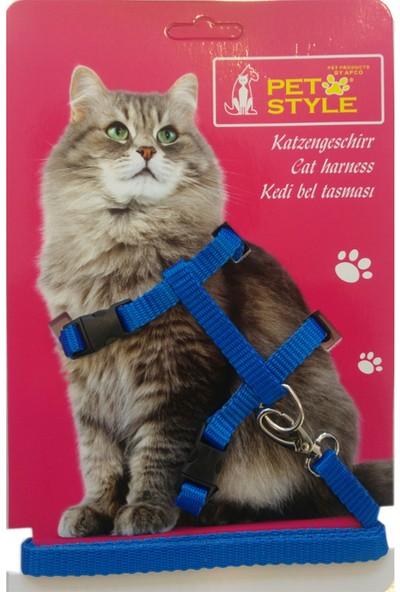 Pet Style Kedi Göğüs Tasması Mavi