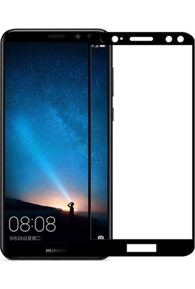 Eiroo Huawei Mate 10 Lite Curve Tempered Glass Full Siyah Cam Ekran Koruyucu