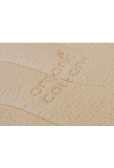 Heyner 65 X 95 Kuş Tüyü Ped'Li Soft Yaylı Yatak Organic 65 * 95 Organic Cotton Ped'Li Bebek Yatağı 65 X 95 Yatak