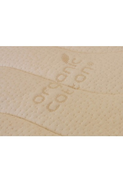 Heyner 65 X 100 Kuş Tüyü Ped'Li Soft Yaylı Yatak Organic 65 * 100 Organic Cotton Ped'Li Bebek Yatağı 65 X 100 Yatak
