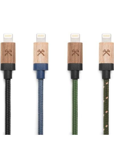 Woodcessories EcoDock El Yapımı Gerçek Ağaç Apple MFI Sertifikalı Kablo
