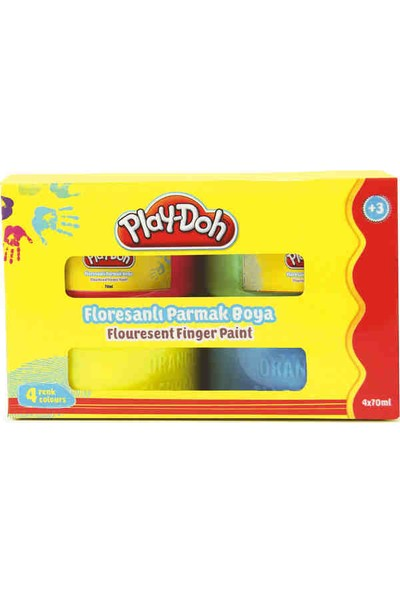Play-Doh 4 Renk Fosforlu Parmak Boya