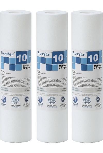 Global Water Solutions Kum ve Tortu Filtresi / 10 mikron (3 Adet)