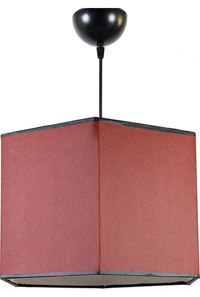 Altıgen Kırmızı Sarkıt Avize