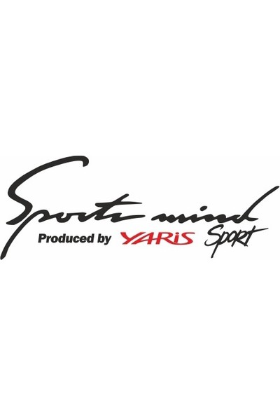 Smoke Toyota Yaris Sport Mind Oto Sticker