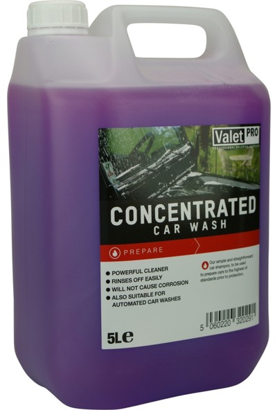 Valet Pro Concentrated Car Wash - Konsantre Ph Nötr Yıkama Şampuanı 5lt