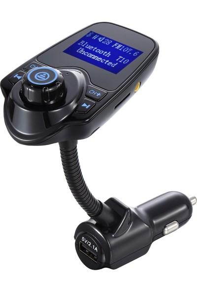 Rugad Yeni Nesil T10 Wifi Bluetooth Araç Kiti Fm USB Giriş Transmitter