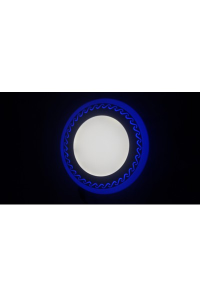 Odalight Çift Renk 6W Panel Led (Mavi-Beyaz)
