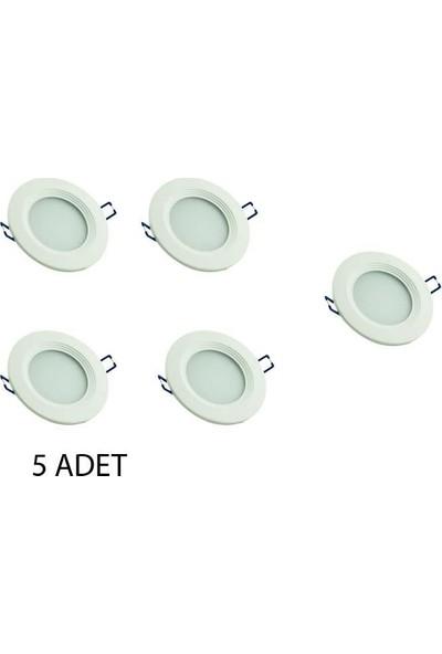 "Odalight Panel Led Armatür 5W 2"" (İnch) - 5 Adet"