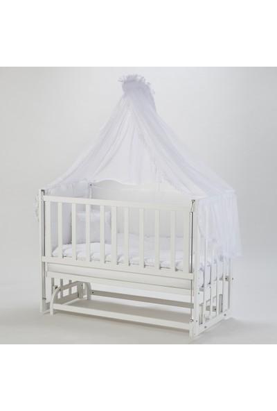 Babycom Anne Yanı Beyaz Beşik 60*120