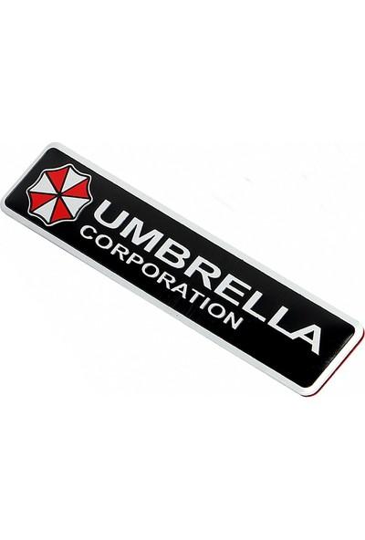 Solfera Aluminyum Resident Evil Umbrella Araç Otomobil Sticker Cs049