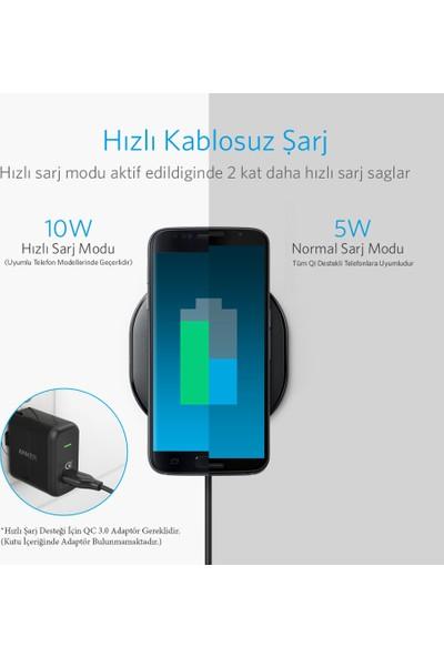 Anker Powerport Wireless 10 Pad Hızlı Kablosuz Şarj Cihazı iOS 7.5W / Android 10W (QI Sertifikalı Tüm Cihazlar ile Uyumlu) - A2513