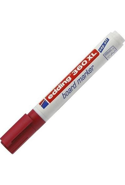 Edding (E-360Xl) Beyaz Yazı Tahtası Kalemi Kırmızı 10 Lu