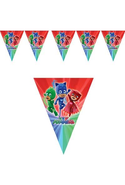 Partijet PijaMaskeliler Lisanslı Üçgen Bayrak Afiş