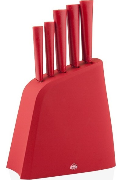 Taç 7500 Stark 6 Parça Bıçak Seti Kırmızı